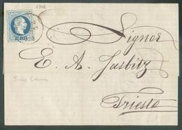 10 Soldi Canc. SCIO-CESME On Cover  23 Dec. 1876 To Trieste  - 14309 - Levant Autrichien