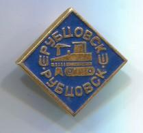 RUBCOVSK - Caterpillar, Bulldozer, Bagger, Excavator, Russian Vintage Pin, Badge, Abzeichen - Transportation