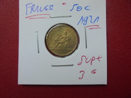 FRANCE 50 Centimes 1921 QUALITE SUPERBE+ (A.8) - France