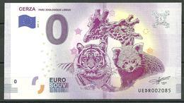 Billet Touristique 0 Euro 2019-4  CERZA  ZOO Tigre , 2 Giraffes - Francia