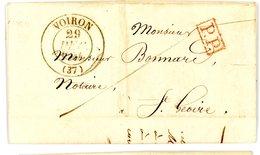 ISERE LAC 1844 VOIRON T13 EN PP PORT PAYE LOCAL ACQUITTEMENT 1  = > ST GEOIRE - Marcophilie (Lettres)