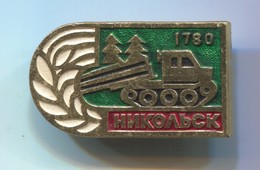 NIKOLSK, Camion Truck - Russian Vintage Pin, Badge, Abzeichen - Transportation