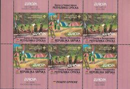 2007 Bosnien Herzegowina Serbische Republik Mi. MH 10 **MNH  , EUROPA CEPT - Pfadfinder / Skauting - - Europa-CEPT
