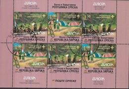 2007 Bosnien Herzegowina Serbische Republik Mi. MH 10 Used   , EUROPA CEPT - Pfadfinder / Skauting - - Europa-CEPT