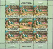 2007 Bosnien Herzegowina Serbische Republik Mi. 386-7 **MNH   Sheet  EUROPA CEPT - Pfadfinder / Skauting - - Europa-CEPT
