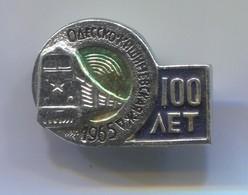 Railway, Eisenbahn, Chemin De Fer  - Locomotive, Russian Vintage  Pin, Badge, Abzeichen - Transportation