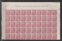 ANDORRA- 49 SELLOS + 1 ROTO  DE LA SERIE 1948-53 CON CABECERA DE HOJA  SIN FIJASELLOS *** (S-1.C.05.14) - Neufs