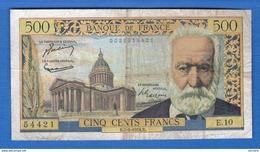 500 Fr  Du7/1/1954 - 1871-1952 Circulated During XXth