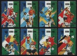 Sierra Leone 1989 - Mi-Nr. 1154-1161 ** - MNH - Fußball / Soccer - Sierra Leone (1961-...)