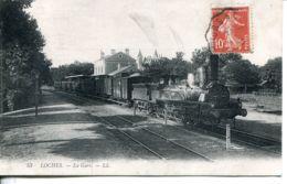 N°73961 -cpa Loches -la Gare -RRR- - Ouvrages D'Art