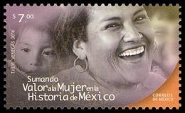 2016 Valor A La Mujer En La Historia De México MNH Women Value In The History Of Mexico - Messico