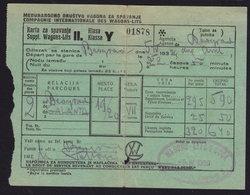 Belgrade - Galanta WAGONS-LITS-COOK 1938  Railway Ticket Bigletto Treno (see Sales Conditions) - Railway