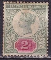 G.B. 1887 Queen Victoria Jubilee Issue 2 D Green SG 200 MH - Ungebraucht