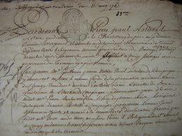 1765, Titre Concernant La Seigneurie De Magneval Appartenant Aux Religieuses Généralité De Soissons - Manuscripts