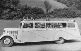 65-LOURDES- CARTE-PHOTO- BUS DEPART POUR GAVARNIE - Lourdes