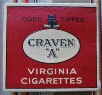 COLLECTION  Paquet Vide De CRAVEN A  N.A.A.F.I. STORES FOR H.M. FORCES WW2 Britannique - Etuis à Cigarettes Vides