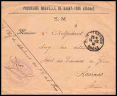 7159/ Carte De Prisonnier De Guerre (War) 1914/1918 Détachement St Fons Lyon Terreaux Pour Romans Drome 1917 - Marcophilie (Lettres)