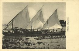 Indonesia, BALI, Native Balinese Sailing Pirogues, Boats (1910s) Postcard - Indonesia