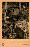 POSTE DE SECOURS SUR LE FONT ALSACIEN (ABRI DES BRANCARDIERS)...CPA ANIMEE - War 1914-18