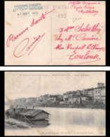 6185 Carte Postale (postcard) Quai Sapiacou France Guerre War 1914/1918 Santé Hopital Temporaire N° 4 Montauban 8/9/1914 - Postmark Collection (Covers)