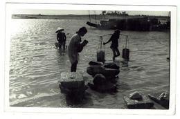 Indochine - Lavandières Sur Le Mékong - Carte Photo- Circulée 1954 - Viêt-Nam