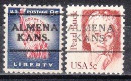 USA Precancel Vorausentwertung Preo, Locals Kansas, Almena 701, 2 Diff. - Vereinigte Staaten
