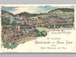 Karlsbad Karlovy Vary Gruss Aus Hôtel National - Gartenzeile - Besitzer Adolf Wiesinger 1902 - Tschechische Republik