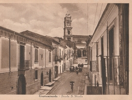 Cartolina - Postcard /  Viaggiata - Sent / Grottaminarda, Via S. Nicola ( Gran Formato) - Avellino
