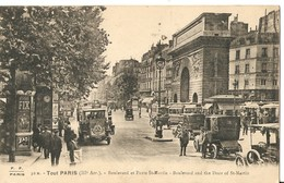 PARIS  ( III° Arr. )  --  Boulevard Et Porte St-Martin - Arrondissement: 03