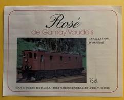10483 - Locomotive Rosé De Gamay Vaudois Jean & Pierre Testuz Suisse - Treni