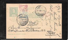 Portugal 1903 Postal Stat.S.ta Combadad To Porto ( Ref 1171) - Lettres & Documents