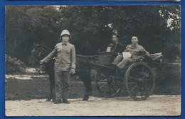 Carte Photo  Militaire Français En Calèche     Indochine - Photographie