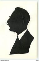 N°7664 - Carte Fantaisie - Silhouette - Homme Avec Moustache - Silhouettes