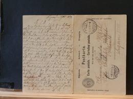 A9735    CP SUISSE AVEC REPONSE OBL.  1893 - Interi Postali