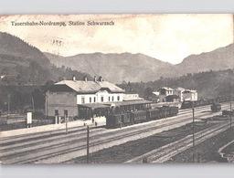 BAHNHOF M. DAMPFLOK Station Schwarzach Im Pongau Kastenstempel Bahnhofbriefkastenstempel 1907 - Altenmarkt Im Pongau