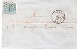 L. TP. N° 18 LP N° 155 De GRAMMONT Du 11/6/1866. - 1865-1866 Profile Left
