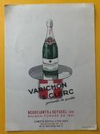 10493 - Carte Note Vacheron & Clerc Négociants ä Seyssel Ain - Rechnungen