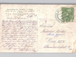 Künstler AK TSS Kaiser Franz Joseph I Steamer Arriving At Malta Poststempel ÖSTERREICHISCHE ADRIA-AUSSTELLUNG 1913 - Austria