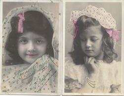 ENFANTS - Lot N° 11 De 4 CPA : Portrait De Fillettes - Retratos