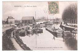 Péniches à Nemours (77 - Seine Et Marne)  Le Port Au Sable - Houseboats
