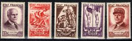 Francia Nº 576/80. Año 1943 - Francia