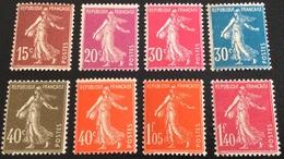 N° 189/190/191/192/193/194/195/196  NEUF ** SANS CHARNIÈRE ( LOT:57 ) - 1906-38 Semeuse Camée