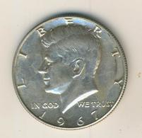 Half Dollar 1967 John F Kennedy United States, Silber (40) - 1964-…: Kennedy
