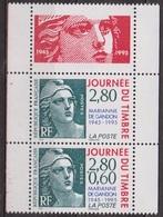 Cinquantenaire De La Marianne De Gandon - FRANCE - Détachés De Carnet - N° 2933a-2934 ** - 1995 - France