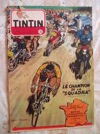TINTIN BELGE  NO 26-07/1953-COVER JEAN GRATON-TOUR DE FRANCE-RC DIVERS--VOIR - Tintin