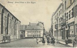 CHIMAY : Grand'Place Et Rue Rogier - Cachet De La Poste 1908 - Chimay