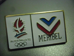 Pin's  MERIBEL (73) Savoie J.O D'hiver Albertville 1992 Jeux Olympiques @ 32 Mm X 18 Mm - Olympic Games