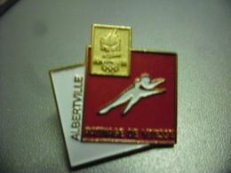Pin's Patinage De Vitesse Savoie (73) J.O D'hiver Albertville 1992 Jeux Olympiques @ 24 Mm X 23 Mm - Olympic Games