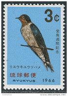 Ryukyus Isl. 1966. Michel #172 MNH/Luxe. Bird. Swallow (Ts17/02) - Ryukyu Islands