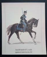 UNIFORMI STORICHE POLIZIA - 1883 CORPO DELLA GUARDIE DI P.S. A CAVALLO - APPUNTATO IN TENUTA DI SERVIZIO - Stampe & Incisioni